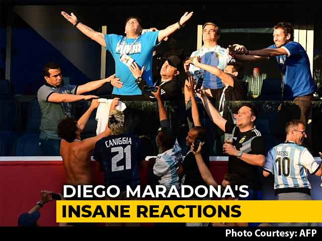 FIFA World Cup 2018: Diego Maradona Hogs The Limelight As Argentina Survive