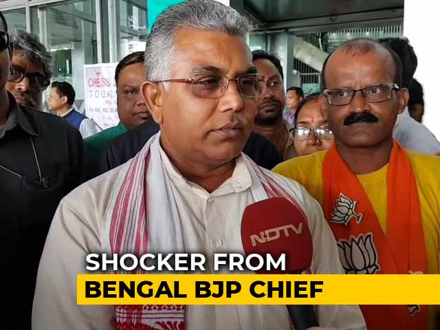 Video : Bengal BJP Chief's Shocker On Encounters, Calls Them A Governance Tool