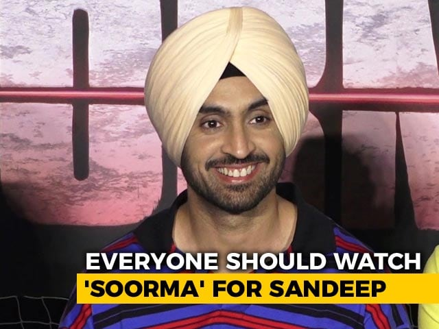 Video : Everyone Should Watch <i>Soorma</i> For Sandeep Singh: Diljit Dosanjh