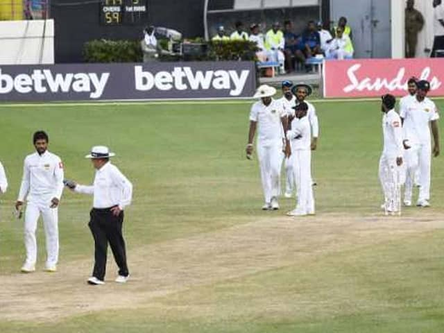 Dinesh Chandimal Sweats As Sri Lanka And West Indies Draw Controversial 2nd Test