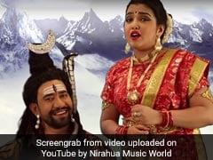 निरहुआ-आम्रपाली के जोड़ी ने मचाया तहलका, शंकर-पार्वती बन गाया 'कांवड़ का पावर...'
