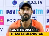 Video : Afghanistan's Journey In International Cricket Is An Inspiration, Says Dinesh Karthik