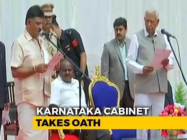 Video : After Rahul Gandhi's Peace-Keeping, Karnataka Finally Gets 25 Ministers