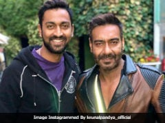 Ajay Devgn And Cricketer Krunal Pandya Trend For This Pic. Here's Why