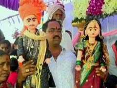 "Dolls Were 'Wed' In Karnataka's Hubli For ""Good Rains, Good Luck"""