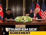 Video : Trump, Kim Jong Sign Joint Document After Historic Singapore Summit