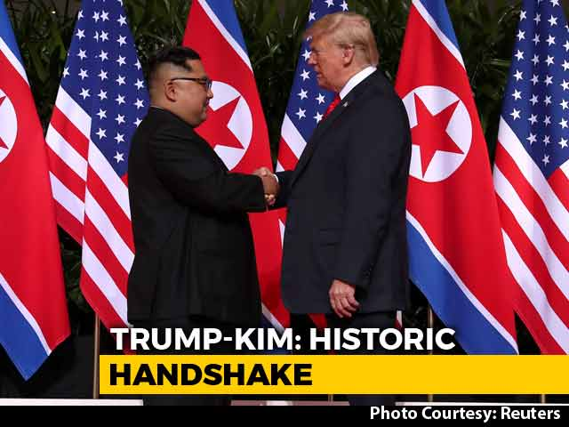 Video : Trump, Kim Jong Launch Historic Summit In Singapore With A Handshake