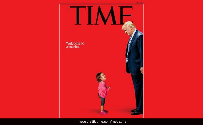 New TIME cover shows President Trump staring down at crying toddler