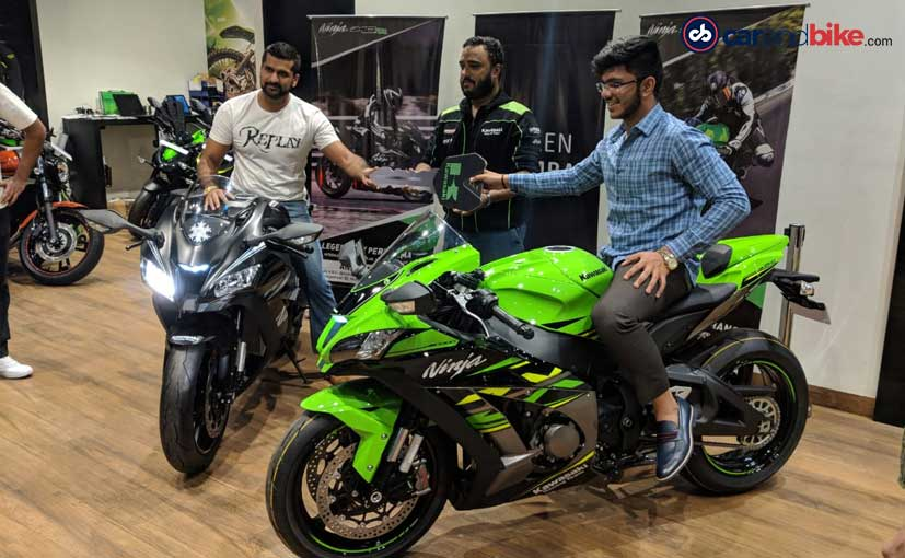 The first locally assembled Kawasaki Ninja ZX-10R and ZX-10RR delivered to customers in Mumbai
