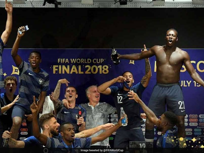 Watch: France Players Invade Coach Didier Deschamps Press Conference After World Cup Win