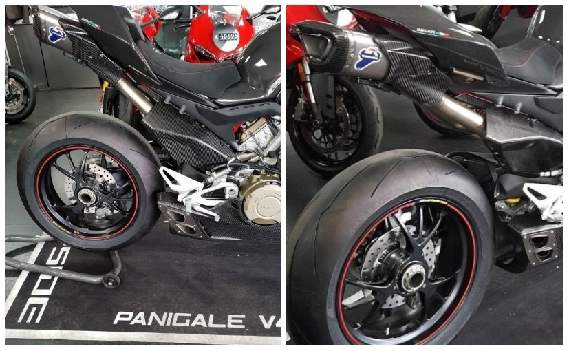 Ducati Panigale V4 With Carbon Fibre Bodywork Spotted Ndtv Carandbike
