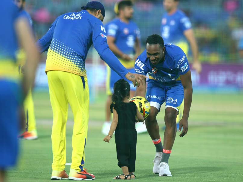 Dhoni and Raina's daughters dance to Bravo's Champion song