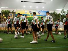 Rescued Thai Boys Showcase Their Football Skills In First Appearance