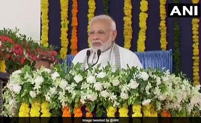 On Home Turf, PM Modi Coins New Slogan ''Saaf Niyat, Sahi Vikas''