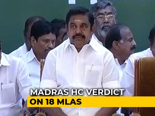 Video : Judges Split On 18 Disqualified Lawmakers, AIADMK Has Good Day In Court