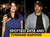 Video : Celeb Spotting: Ekta And Tusshar Kapoor Snapped With Their Parents