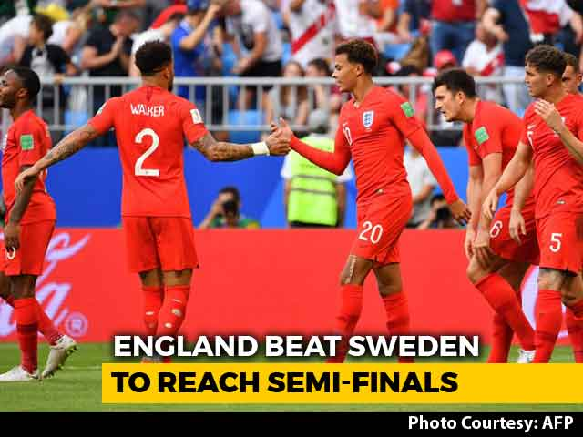 Video : FIFA World Cup 2018: England Beat Sweden To Book Semi-Final Spot