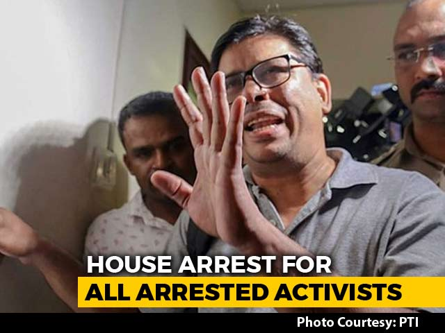 Video : House Arrest For 5 Activists Till September 6, Says Top Court