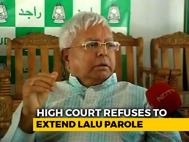 Video : Lalu Yadav Ordered Back To Jail By August 30, Parole Not Extended