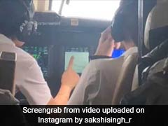 Sakshi Dhoni Was On Flight With Husband-Wife Pilots And She Was Worried...