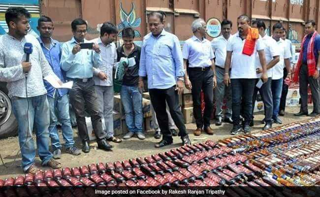 In Assam, 6 Lakh Bottles Of Illegal Alcohol Worth 168 Crore Destroyed