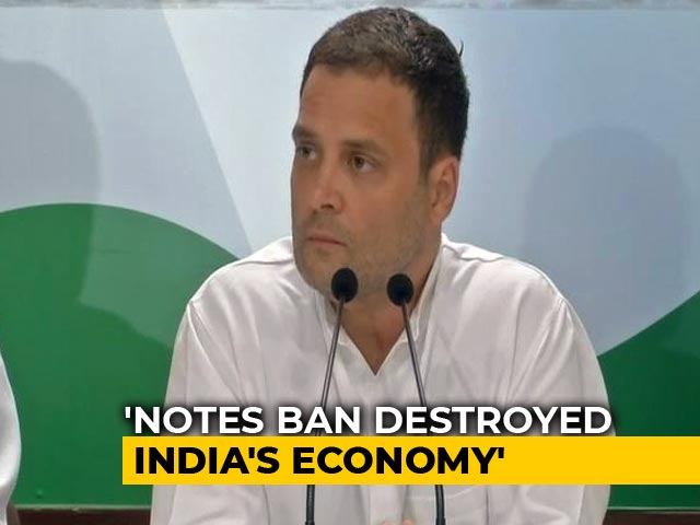 "Video : Rahul Gandhi Says Demonetisation ""Scam"" Aimed To Help Crony Capitalists"