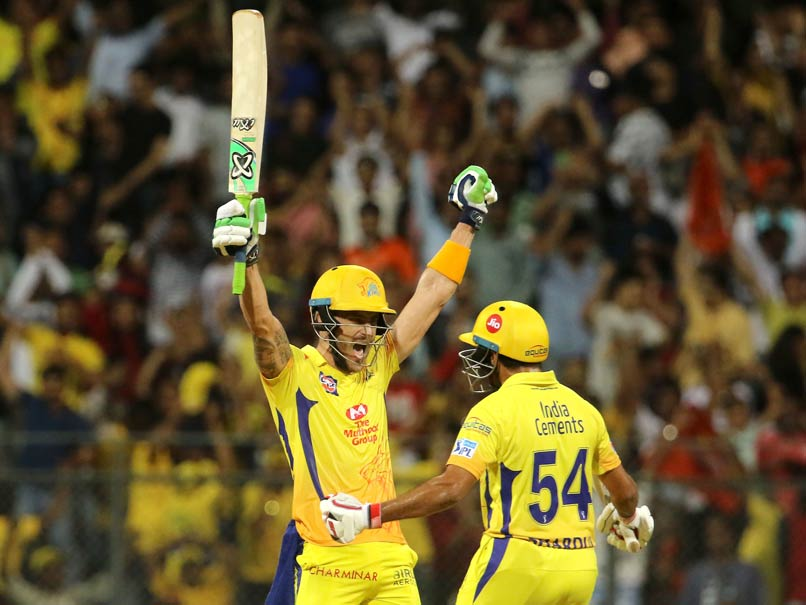 IPL: Faf Du Plessis Powers CSK To Tournament Final After Win Over SRH