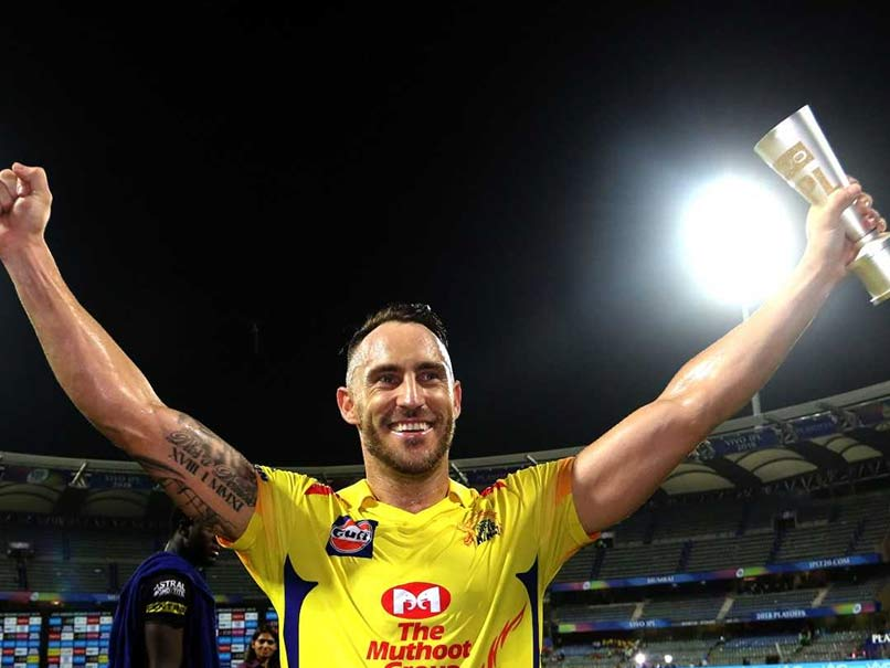 IPL 2018, Qualifier 1: Faf Du Plessis Thanks Fans After Match-Winning Knock For Chennai Super Kings