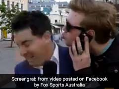 Fan Gets Too Close For Comfort To Reporter On Live TV. Watch Awkward Moment