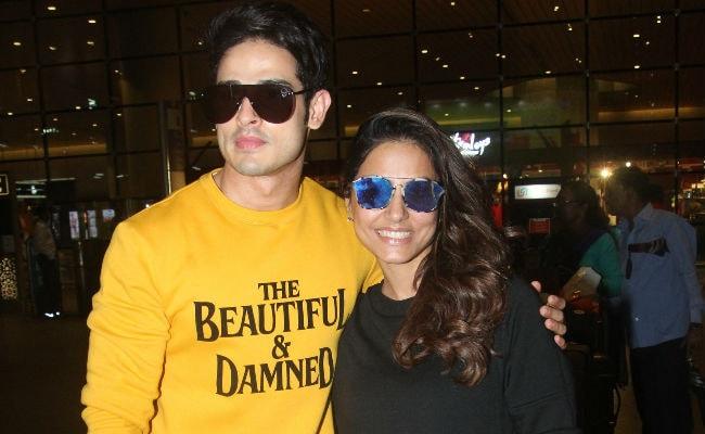 Bigg Boss Pals Hina Khan And Priyank Sharma's Impromptu Airport Reunion In Pics