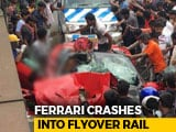 Video : 1 Dead As Ferrari Convertible Crashes Into Flyover Wall In Kolkata
