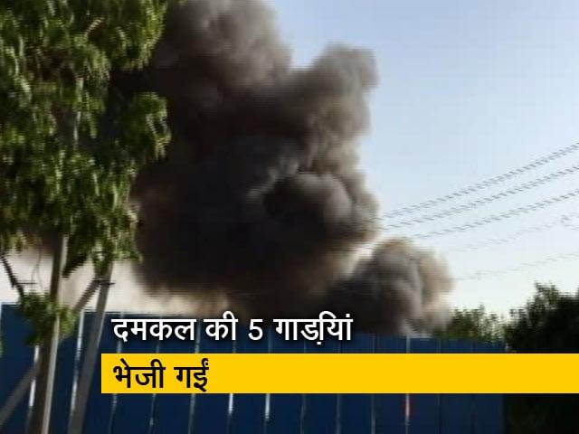 Video : दिल्ली:  हयात ग्रैंड होटल के कैंपस में आग