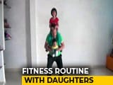 Video : Madhya Pradesh Dad's Fitness Routine With Daughters Is Viral