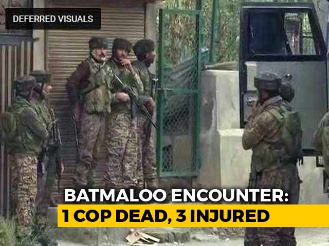 Video : Policeman Killed As Encounter Breaks Out In Srinagar, 3 Injured