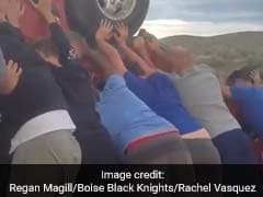 Video: Heroic Teens Lift Overturned Car To Rescue Woman Trapped Inside