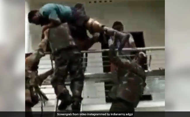 Kerala Floods: Video Of Army Rescuing Man With Prosthetic Limb Wins Hearts