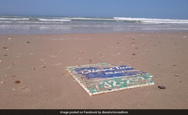How A Sign From The United States Ended Up On A Beach In France