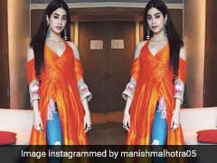 We'll Take Janhvi Kapoor's Vibrant Look Over Any Sunset