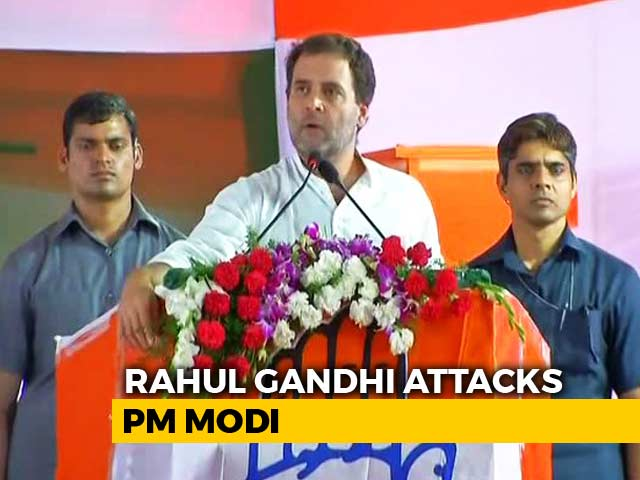 "Video : ""He Can't Look Me In The Eye Because..."": Rahul Gandhi Jabs PM On Rafale"
