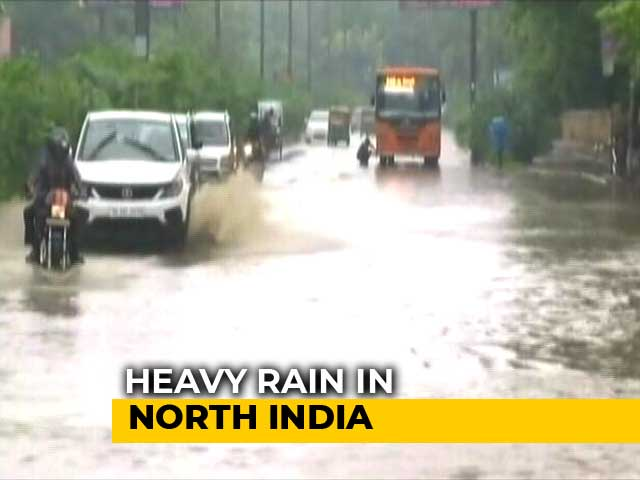 Video : Rains Continue To Lash Delhi, Schools To Remain Closed In Ghaziabad
