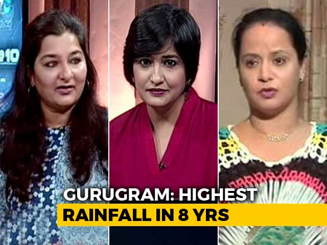 Video : Rain Stalls Gurugram: Millennium City, Medieval Drainage?