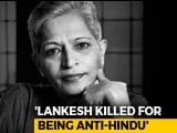"Video : ""Gauri Lankesh Anti-Hindu, Had To Be Killed"": Arrested Man's Confession"