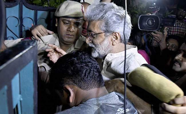 Maharashtra Government Files Caveat In Top Court Against Gautam Navlakha
