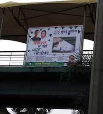 'Will Win With Love'': Posters Of Rahul Gandhi Hugging PM Modi In Mumbai
