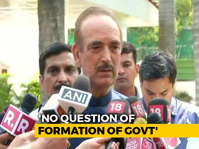 Video : No Question Of Alliance With PDP, Says Congress' Ghulam Nabi Azad