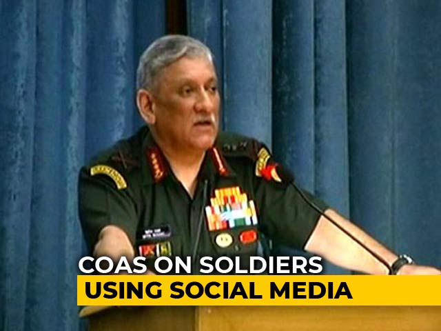 Video : Can't Keep Soldiers Away From Social Media, Smartphones, Says Army Chief
