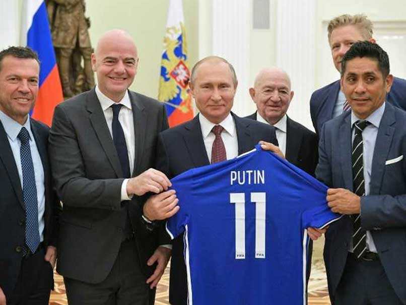 "World Cup 2018: FIFA Tells Vladimir Putin World Is ""In Love"" With Russia"