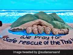Odisha Sand Artist's Sculpture Has A Prayer For Thai Boys Stuck In Cave