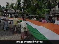 In Assam, Gujarat, Giant National Flags Unfurled On 72nd Independence Day