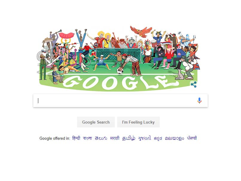 FIFA World Cup 2018 : Google Doodle Celebrates World Cup Kick-Off In Russia